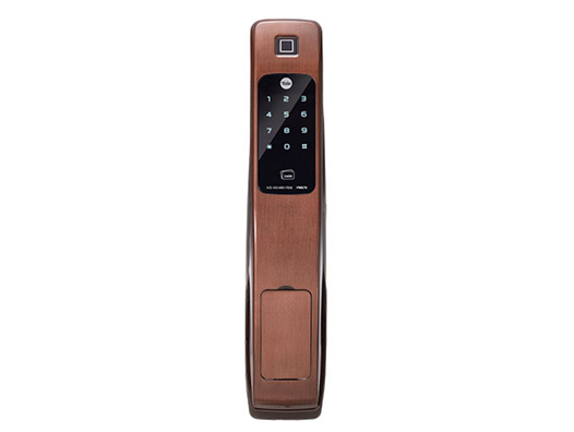 耶鲁电子锁 YMG40 指纹 触屏式密码 机械钥匙