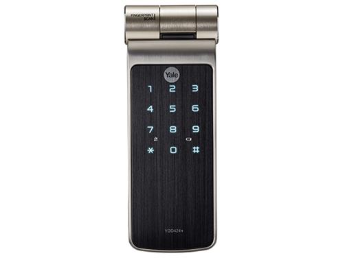 耶鲁电子锁 YDD424+ 指纹 触屏式密码 机械钥匙 蓝牙遥控