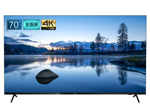 飞利浦(PHILIPS)70英寸 4K影院全面屏 2+32G运动防抖HDR AI蓝牙语音液晶智能电视 70PUF7395/T3