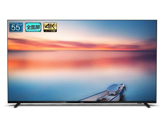 飞利浦(PHILIPS)55英寸4K全面屏 2+16G腾讯视频安卓9.0蓝牙AI智能语音液晶网络电视 55PUF7295/T3