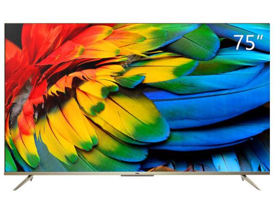 TCL 75D9 75英寸液晶平板电视机 4K超高清护眼 超薄全面屏 人工智能语音 智慧屏 高色域画质 教育电视