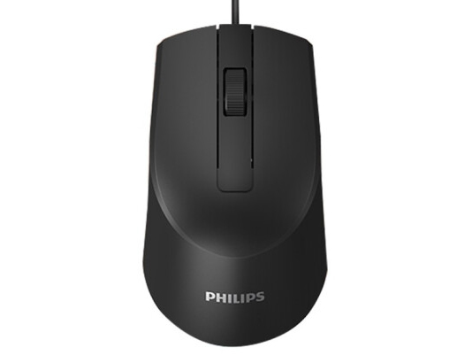 飞利浦 SPK7104 有线鼠标 3D精品商务办公鼠标按键设计. 橡胶皮圈滚轮贴合手感.USB全速、可调节DPI设计800-1200