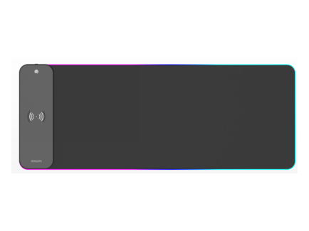 飞利浦 SPL7604 鼠标垫 支持10万高功率充电,支持苹果快充 炫酷灯光,7彩发光 触控指示灯,无线充电