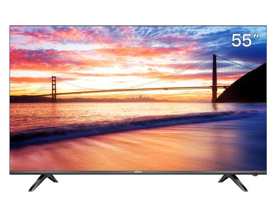 康佳(KONKA)55D6S 55英寸 超薄全面屏 AI智能精品 4K超高清 2GB+16GB内存 平板液晶教育电视