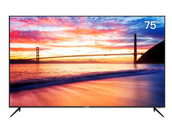 康佳(KONKA)75D6S 75英寸 超薄机身 AI智能精品 4K超高清 2GB+16GB内存 教育电视 网络平板液晶电视机