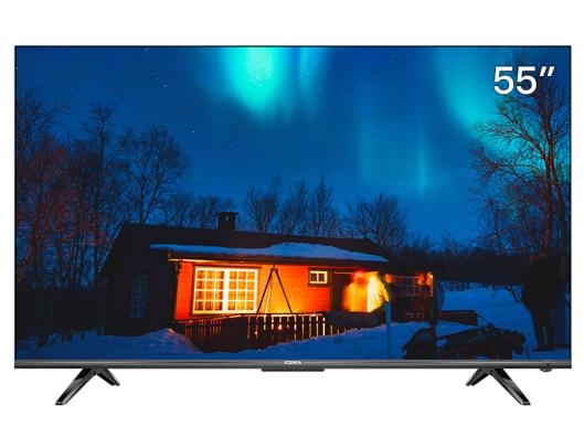 康佳(KONKA)LED55D8 55英寸 4K超高清 全面屏金属机身 2GB+64GB大内存 AI智慧屏 智能教育电视
