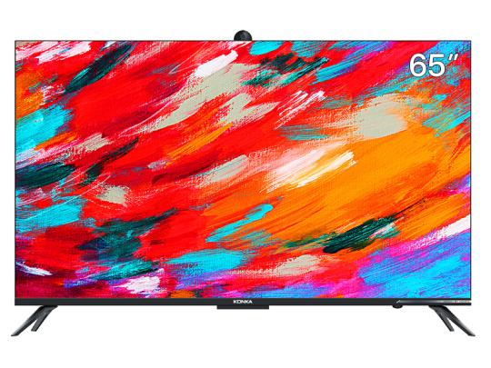康佳(KONKA)65A10S 65英寸 4K超高清 MEMC超薄金属全面屏 3GB+32G内存 全景AI智慧屏 摄像头教育护眼电视