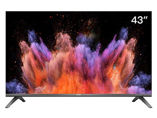 康佳(KONKA)LED43U5 43英寸 4K超高清 金属机身 全面屏 AI智能语音 网络平板液晶教育电视机