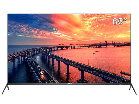康佳(KONKA)65A9 65英寸 4K超高清 全面屏 AI智能 9.99mm超薄机身 2+16GB内存 网络平板教育电视机