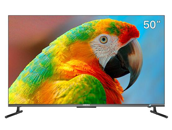 康佳(KONKA)50A9D 50英寸 4K超高清 全面屏 华为芯 超薄机身 2+32GB 远场语音智慧屏教育电视