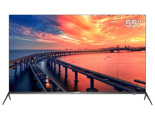 康佳(KONKA)55A9 55英寸 4K超高清 全面屏 AI智能 8.99mm超薄机身 2+16GB内存 网络平板教育电视机