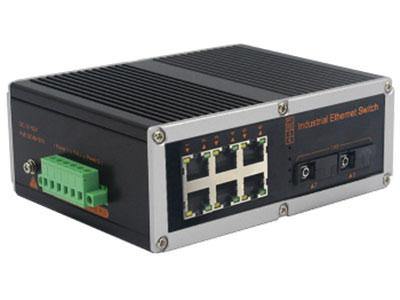 宇航光通  非网管工业级交换机 百兆2光6电 YHR26F 6路百兆电口+2路百兆FX光口工业级以太网交换机,支持4个10Base-T/100Base-TX电口和2个100Base-X光口。产品符合FCC、CE、ROHS标准。YHR24F系列交换机具有-40℃~85℃的工作温度,具有超强的坚固度能适应各种严苛环境,也可以非常方便的安置在空间紧凑的控制箱中。导轨的安装特性、宽温操作及拥有IP40防护等级的外壳及LED指示灯,使YHR24F成为一个即插即用的工业级设备,为用户的以太网设备联网提供可靠、便捷的解决方案。