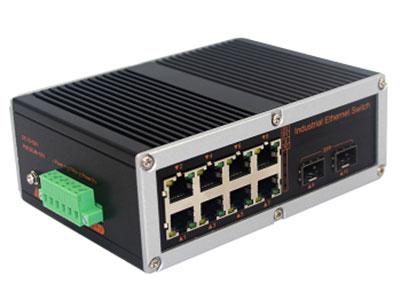宇航光通  非网管工业级交换机 2千光8百电SFP YHD28GF-SFP 8路百兆电口+2路千兆FX光口工业级以太网交换机,支持8个10Base-T/100Base-TX电口和1个1000Base-X光口。产品符合FCC、CE、ROHS标准。YHD618GF系列交换机具有-40℃~85℃的工作温度,具有超强的坚固度能适应各种严苛环境,也可以非常方便的安置在空间紧凑的控制箱中。导轨的安装特性、宽温操作及拥有IP40防护等级的外壳及LED指示灯,使YHD618GF成为一个即插即用的工业级设备,为用户的以太网设备联网提供可靠、便捷的解决方案。