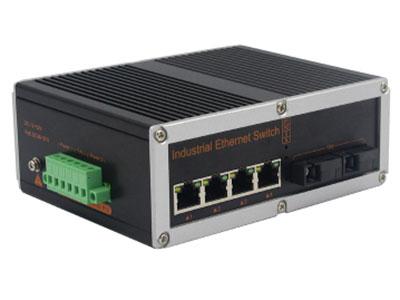 宇航光通  非网管工业级交换机 千兆2光4电-SFP YHD24G-SFP 千兆2光4电工业级以太网交换机,产品符合FCC、CE、ROHS标准。支持2个千兆光口和4个千兆电口,支持一路console口;该系列交换机采用低功耗、无风扇设计,确保无噪声干扰,同时支持-40~85℃工作温度和良好的EMC电磁兼容性能,保证在恶劣的工业环境中保持稳定的工作,为工厂自动化,智能交通,视频监控等工业应用领域组建快速稳定的网络终端接入网络提供安全可靠的解决方案。护等级的外壳及 LED 指示灯,使之成为一个即插即用的工业级设备,为用户的以太网设备联网提供可靠、便捷的解决方案。