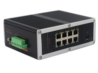 宇航光通  非网管工业级交换机 千兆1光8电SFP YHD18G-SFP 8路千兆电口+1路千兆FX光口工业级以太网交换机,支持8个10Base-T/100Base-TX电口和1个1000Base-X光口。产品符合FCC、CE、ROHS标准。YHD618GF系列交换机具有-40℃~85℃的工作温度,具有超强的坚固度能适应各种严苛环境,也可以非常方便的安置在空间紧凑的控制箱中。导轨的安装特性、宽温操作及拥有IP40防护等级的外壳及LED指示灯,使YHD618GF成为一个即插即用的工业级设备,为用户的以太网设备联网提供可靠、便捷的解决方案。