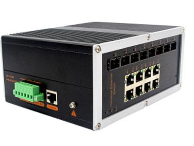 宇航光通  网管工业级 千兆8光8电-SFP YH688BGS-SFP 网管型千兆8光8电YH688BGS-SFP工业以太网交换机,产品符合FCC、CE、ROHS标准。支持4个千兆光口和20个千兆电口,支持一路console口;支持工业现场所需的以太网二层协议,保证通信网络的稳定性;该系列交换机采用低功耗、无风扇设计,确保无噪声干扰,同时支持-40~85℃工作温度和良好的EMC电磁兼容性能,保证在恶劣的工业环境中保持稳定的工作,为工厂自动化,智能交通,视频监控等工业应用领域组建快速稳定的网络终端接入网络提供安全可靠的解决方案。护等级的外壳及 LED 指示灯,使之成为一个即插