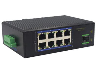 宇航光通 1千光8百电SFP 非网管工业级交换机 ZXD18GF-SFP 8路百兆电口+1路千兆FX光口工业级以太网交换机,支持8个10Base-T/100Base-TX电口和1个1000Base-X光口。产品符合FCC、CE、ROHS标准。YHD618GF系列交换机具有-40℃~85℃的工作温度,具有超强的坚固度能适应各种严苛环境,也可以非常方便的安置在空间紧凑的控制箱中。导轨的安装特性、宽温操作及拥有IP40防护等级的外壳及LED指示灯,使YHD618GF成为一个即插即用的工业级设备,为用户的以太网设备联网提供可靠、便捷的解决方案。