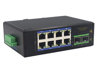 宇航光通  2千光8百电SFP 非网管工业级PoE交换机 ZXD28GFP-SFP 8路百兆POE电口+2路千兆FX光口工业级以太网POE交换机,支持8个10/100Base-TX电口和2个1000Base-X光口。产品符合FCC、CE、ROHS标准。YHD28GFP-SFP交换机具有-40℃~85℃的工作温度,具有超强的坚固度能适应各种严苛环境,也可以非常方便的安置在空间紧凑的控制箱中。导轨的安装特性、宽温操作及拥有IP40防护等级的外壳及LED指示灯,使YHD28GFP-SFP成为一个即插即用的工业级设备,为用户的以太网设备联网提供可靠、便捷的解决方案。