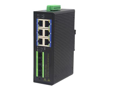 宇航光通  管理型百兆 2光6电SC2工业级交换机 ZX626FS-SC2 支持工业现场所需的以太网二层协议,保证通信网络的稳定性;该系列交换机采用低功耗、无风扇设计,确保无噪声干扰,同时支持-40~85℃工作温度和良好的EMC电磁兼容性能,保证在恶劣的工业环境中保持稳定的工作,为工厂自动化,智能交通,视频监控等工业应用领域组建快速稳定的网络终端接入网络提供安全可靠的解决方案。