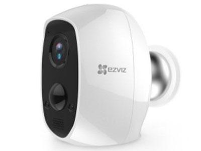 萤石   C3A全无线互联网电池摄像机 大容量电池,小偷断电突发停电也能录像,安全性更高;磁铁吸附,免插电免布