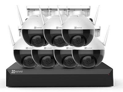 萤石  室外云台无线摄录套装C8C+X5S IP66防水| 无线连接| 360°视野|全彩夜视| H.265编码