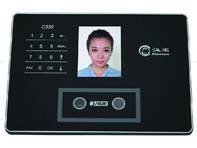 汉王  C330ES 容量:300张人脸; 记录容量:10万条;3.5寸TFT彩屏显示;30万像素红外双摄像头,黑夜也可识别;采用触摸按键, 验证速度