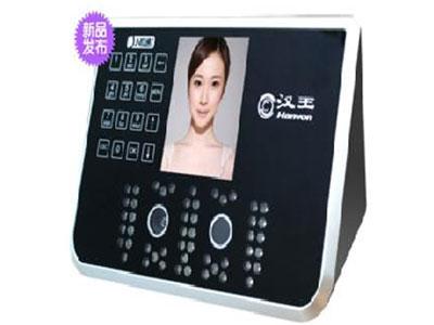 汉王 E356A 容量:500人脸用户;记录容量:10万条;  3.5英寸TFT彩屏显示, 30万像素红外双摄像头,黑夜也可识别;触摸按键;验证方式:人脸、密码; 验证速度