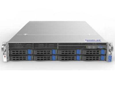 青云通用服务器  SYS-S2208 1.支持2颗 Intel® Xeon® E5-2600 V3/V4系列处理器 2.Intel® C612芯片组 3.8个DDR4内存插槽,最大支持1TB内存 4.支持8个3.5/2.5英寸SAS2/SATA3热插拔盘位 5.5个PCI-E3.0,1个PCI-E2.0扩展插槽 6.板载2x1000Mb/s网络接口 7.集成IPMI2.0远程管理端口 8.4个USB3.0接口,2个USB2.0接口,  1个VGA接口,1个COM口 9.550W 80PLUS