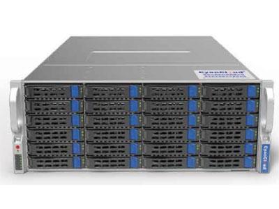 青云异构计算服务器  SYS-S4224-G4 1. 支持2颗Intel® Xeon® E5-2600 V4/V3系列处理器 2. Intel ® C612芯片组 3. 16个DDR4内存插槽,最大支持2TB内存 4. 支持24个3.5/2.5英寸热插拔盘位 5. 6个PCI-E3.0扩展插槽、1个PCIE-2.0扩展插槽 6. 板载2x1000Mb/s网络接口 7. 集成IPMI2.0远程管理端口 8. 1个VGA接口,2个USB3.0接口,  2个USB2.0接口,1个COM口 9. 2000W铂金