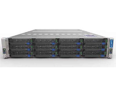 青云超融合服务器  SYS-S222T 1. 支持2颗 Intel® Xeon® E5-2600V3/V4系列处理器 2. Intel® C612芯片组 3. 8个DDR4内存插槽,最大支持1TB内存 4. 支持6个3.5英寸SAS/SATA热插拔盘位 5. 3个PCI-E3.0x8扩展插槽 6. 板载2x1000Mb/s网络接口 7. 集成IPMI2.0远程管理端口 8. 2个USB3.0接口,1个VGA接口,  1个COM接口 整机配置1280W 80PLUS 1+1高效冗余电源