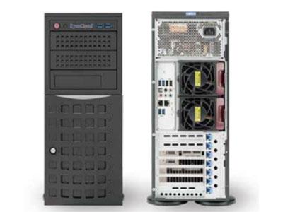 青云超级工作站 SYS-SW208 1.支持2颗Intel® Xeon® E5-2600 V3/V4系列处理器 2.Intel® C612芯片组 3.16个DDR4内存插槽,最大支持2TB内存 4.支持8个3.5英寸热插拔硬盘位,3个5.25英寸扩展盘位 5. 5个PCI-E3.0扩展插槽,1个PCI-E2.0扩展插槽 6.板载2x1000Mb/s网络接口 7.1组ALC 1150 HD 音频接口 8.4个USB 3.0接口,4个USB 2.0接口,  1个VGA接口,1个COM接口 9.8