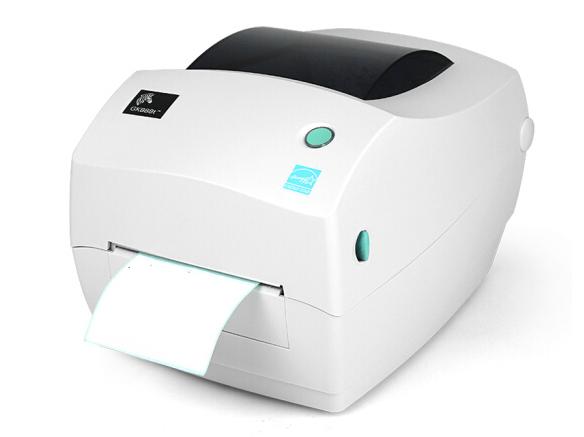 斑马(ZEBRA)哑银PET标签纸打印机 条形码不干胶铜版纸服装吊牌一维二维码水洗唛打标机 GK888t