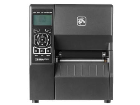 ZEBRA斑马ZT230铜版纸不干胶标签打印机工业打标机 水洗标洗水唛货架签热敏/热转印标贴机