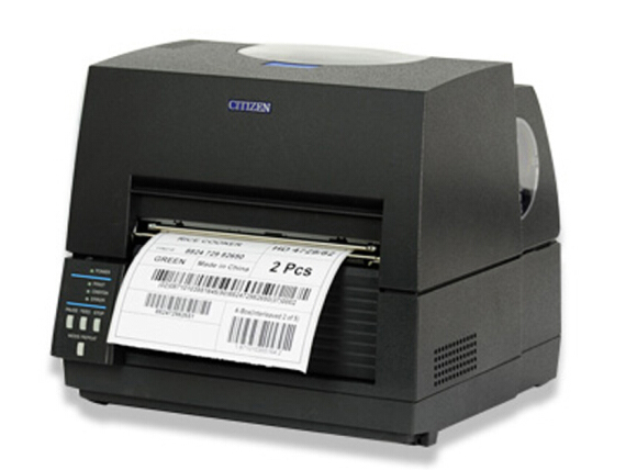 西铁城(CITIZEN)标签打印机 条码打印机 CL-S6621C 宽幅A5标签打印机