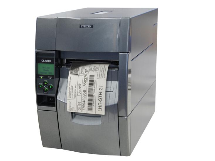 西铁城(CITIZEN)标签打印机 条码打印机 CL-S700R 内置回卷器剥离器/203DPI