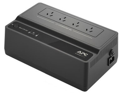 APC BK650/500 UPS不间断电源 NAS自动识别(500M不支持) 静音防雷家用后备电源 BK650M2-CH(390W/650VA)