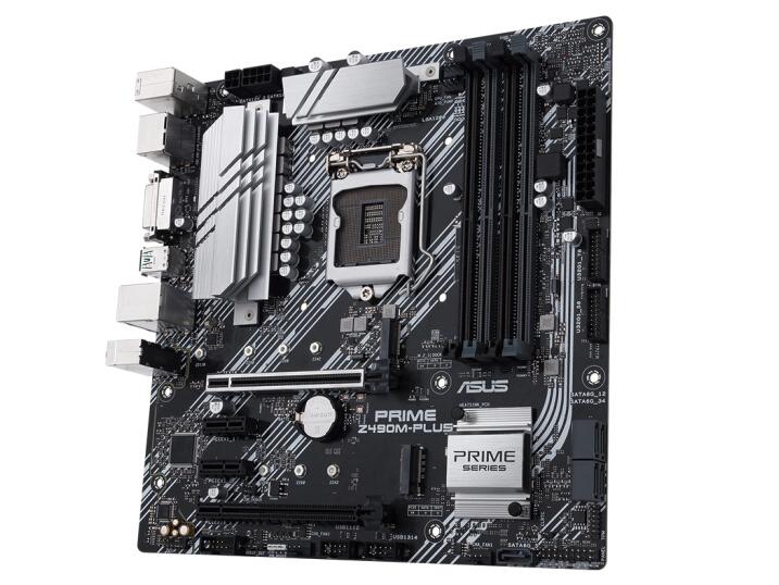 华硕(ASUS)PRIME Z490M-PLUS主板 大师系列 支持 CPU 10900K/10700K(Intel Z490/LGA 1200)
