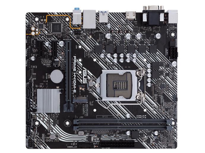 华硕(ASUS)PRIME H410M-E主板 支持 G5900/10100/10400F(Intel H410/LGA 1200)