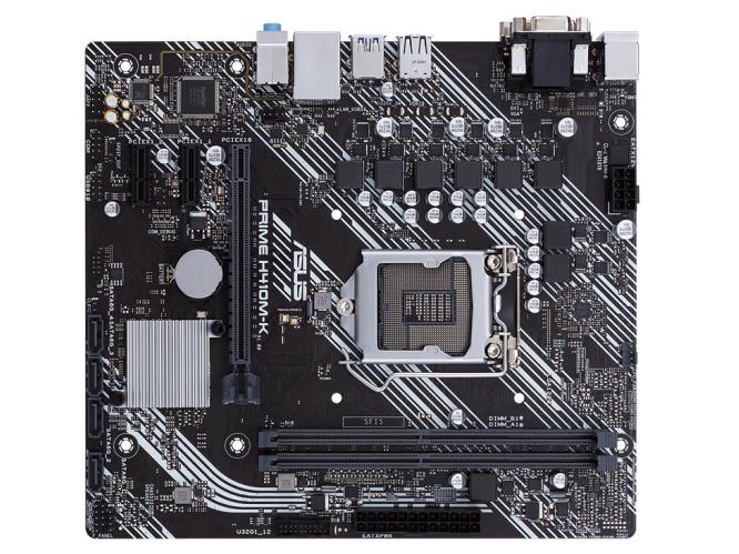 华硕(ASUS)PRIME H410M-K主板 支持 G5900/10100/10400F(Intel H410/LGA 1200)