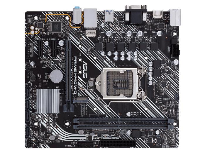 华硕(ASUS)PRIME H410M-D主板 支持 G5900/10100/10400F(Intel H410/LGA 1200)