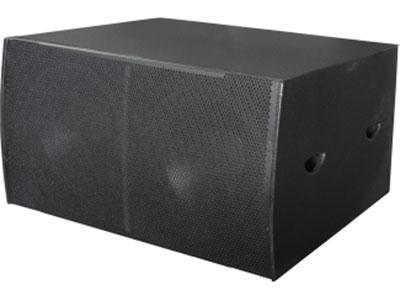 """科达  KD-218SUB双18寸超低音音箱 """"使用全新复合式单元材料和驱动器结构,具备高输出和低失真的特性。低频单元采用高分子聚合物与植物纤维特定配方组成,并用特殊阻尼胶聚合而成,低频弹性十足,充分满足各种场合的音乐大动态需求。                                                                                                             产品型号:KD-218SUB双驱动器通路低音系统 频率响应:35Hz-300KHz(+3dB) 灵敏度"""