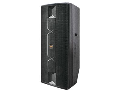 """科达 KD-215UD专业音响高端夹板箱 UD系列音箱箱体采用18mm厚度优质夹板精工制造,表面应用最新喷涂工艺喷以高强度耐磨漆精选独家研发的优质高低音单元,经科达电声工程师的精心调校,令该系列音箱的音频输出达到最佳平衡点,该系列音箱灵敏度高,音色出众,音域宽广,层次清晰,高频细腻通透,穿透力强,低频国度充足。应用于多功报告厅、娱乐酒吧、大型会议室、礼堂扩声及户外演出等场所。                              系统类型: 2-way 2X15"""" full-range system频率响应:45Hz------18KHz"""