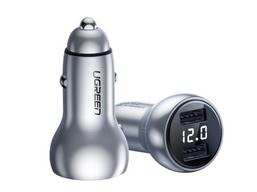 绿联(UGREEN) CD200 双口USB数显车充 铜壳款 输入:12-24V/2A 输出:5A/3.6A