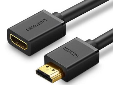 绿联(UGREEN) HD107 HDMI公对母延长线  黑色 2.0版