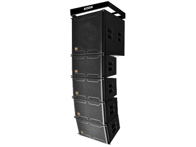"""科达  KLS-110 """"KLS-110采用了双75芯钕磁高频驱动压缩单元,低频采用10寸65芯音圈156磁单元。简单灵活的铝合金材质吊挂件设计,即减轻了产品的重量,又方便运输及吊装;箱体采用坚固的桦木夹板,表面采用具有防水功能的聚脲涂料经特殊工艺处理,喇叭纸盆表面附有防水涂层,音箱整体具有防水功能,此箱设计用于中近程扩声及需要具备防水功能的场合使用,同时钢网内覆一层可替换的声学透声网。最大限度的保证了声学设计与机械机构的完整性。 KLS-110创新的设计技术;集和了单元设计及频率相位校正等方面的经验,所有单元精心设计,确保"""
