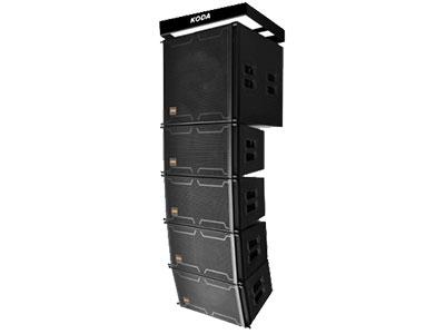"""科达  KLS-110B """"搭配KLS-110B后使整套线阵列系统的视觉效果更加协调和完美。其宽度与全频箱一致,体积小巧、结构紧凑、重量轻,接插安装十分便捷,可为系统提供更为宽广的低频响应。箱体采用坚固的桦木夹板,表面采用具有防水功能的聚脲涂料经特殊工艺处理,喇叭纸盆表面附有防水涂层,音箱整体具有防水功能,此箱设计用于中近程扩声及需要具备防水功能的场合使用。 该套系统也可与全频音箱组合搁置舞台台口位置,用于主要扩声。每只音箱底部均带支架插孔,可用支撑杆将全频支撑使用。 产品参数: 系     统:1*18″SUBBASS"""