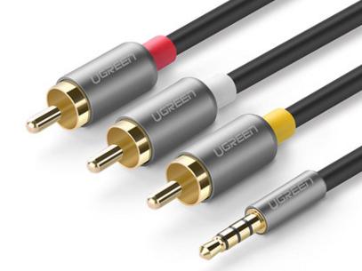 绿联(UGREEN)AV138 3.5mm一分三 AV复合音视频线