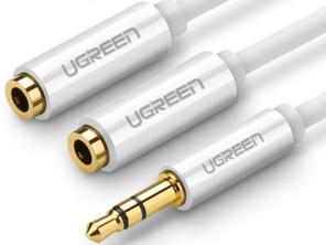 绿联(UGREEN)AV134 3.5mm公转母 一分二音频线