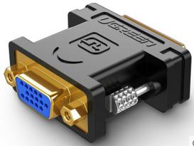 绿联(UGREEN)20122 DVI(24+5)公转VGA母转接头