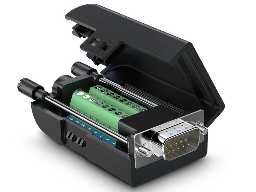 绿联(UGREEN)VG106 VGA免焊转接头 胶壳款